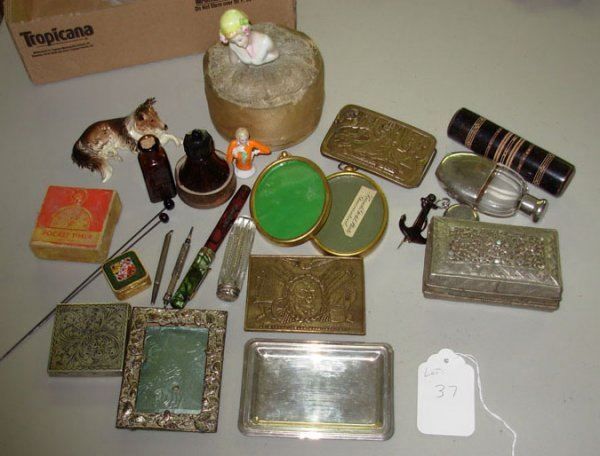 1037: Large lot of misc. small collectibles including l