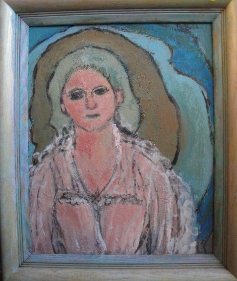 2: Two portraits of ladies: O/B Modernistic portrait la