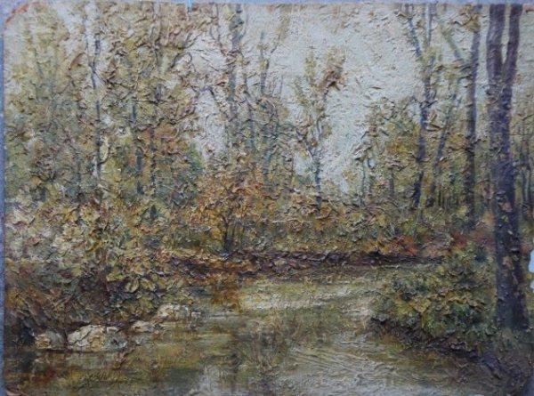9: Two O/B landscapes circa 1900. Impressionist signed