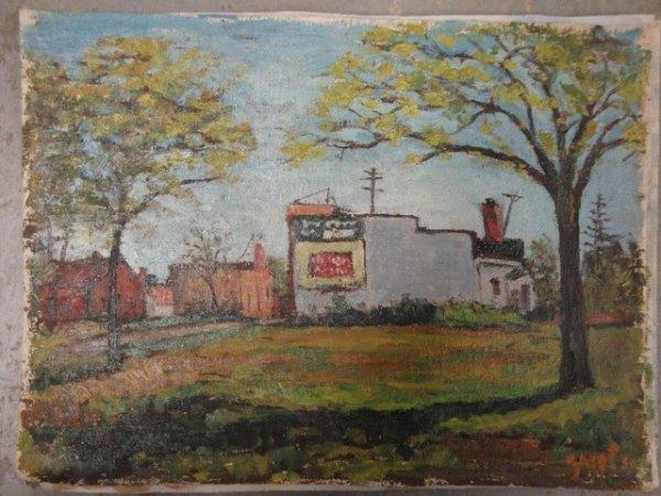10: Four O/C landscapes circa 1940 signed Zavel (born 1
