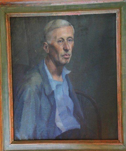 17: O/C Portrait of seated elderly man. Not signed. Pro
