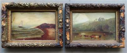 Two primitive O/B American paintings with Devoe & Co.
