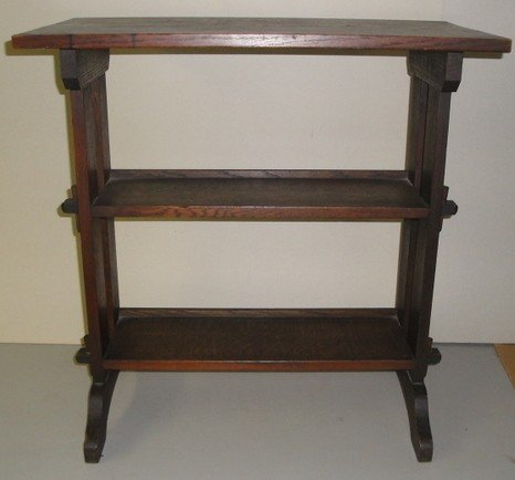 """35: Signed Roycroft oak book stand for holding """"Little"""