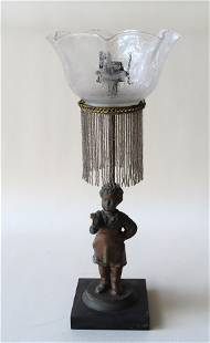 A Victorian gas light table lamp, 19th century, in the