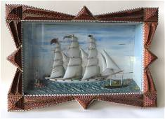 The best nautical diorama depicting a hand carved 3