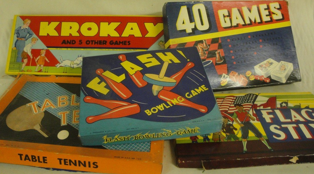 3: Box of 6 games including Flash bowling game, Flag St