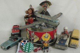 Lot Of Misc. Toys Including Tin Boeing Airpllane (a