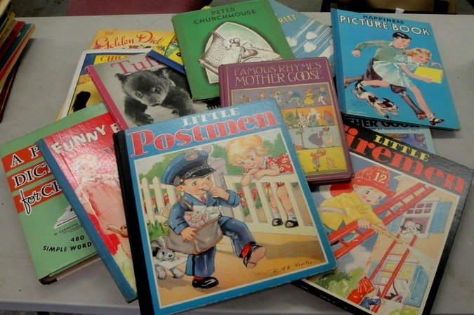 12: Box lot of childrens books including Peter Church M