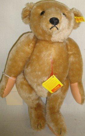 Newer Jointed Steiff Mohair Teddy Bear With Origina