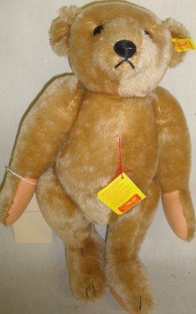 13: Newer jointed Steiff Mohair Teddy Bear with origina