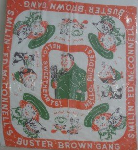 Buster Brown Printed Scarf, Early 20th Century - Ex