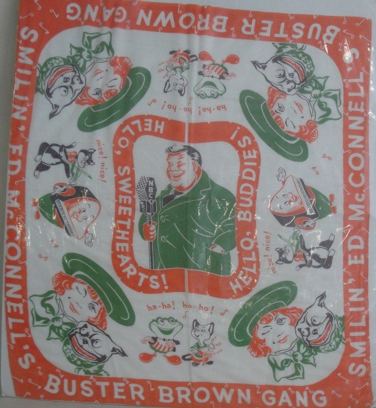 16: Buster brown printed scarf, early 20th century - ex