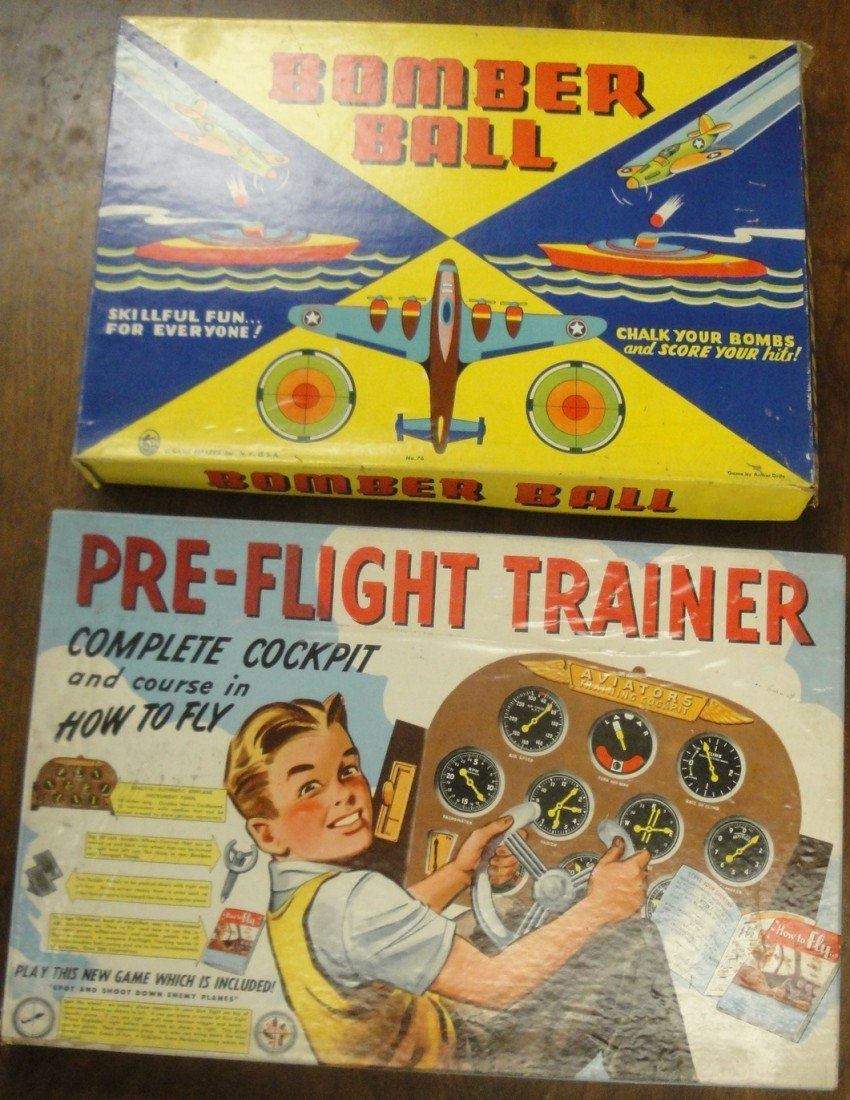 23: Two airplane games: Bomber Ball & Pre-Flight Traine