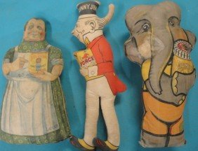 Three Advertising Cloth Dolls For Jumbo Peanut But