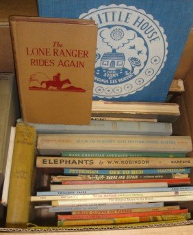Large Grouping Of Old Children's Books