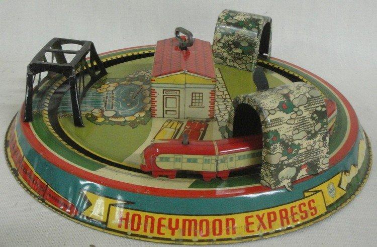 "175: Windup lithograph tin train set by Marx entitled """