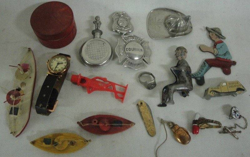 187: Collection of miniature toy parts and accessories