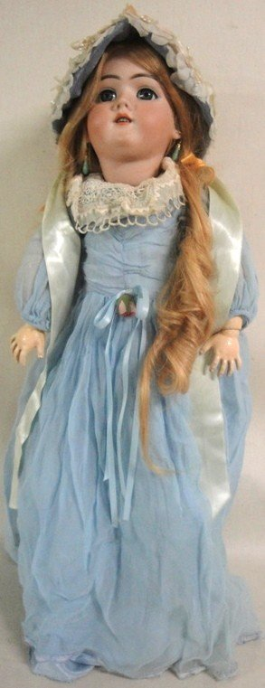 157: German doll signed Handwerk 119-12 3/4 Germany-4 3