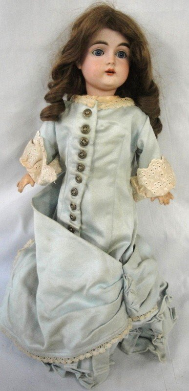 169: German doll - signed illegibly - marked Germany 16