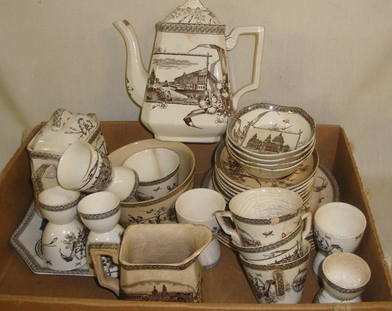 501: Collection of Victorian china with various histori