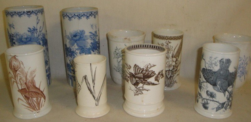 506: Collection of mostly Victorian-era cups and bowls