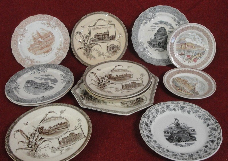 519: Collection of thirteen plates - all with the World
