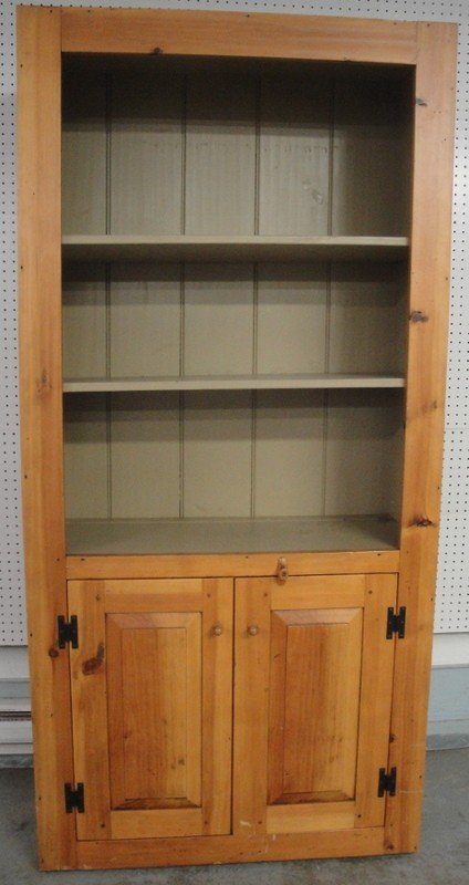 520: Custom-made pine kitchen cupboard - open top - two