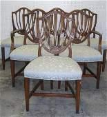 748: Hepplewhite-style dining room set inc. walnut oval