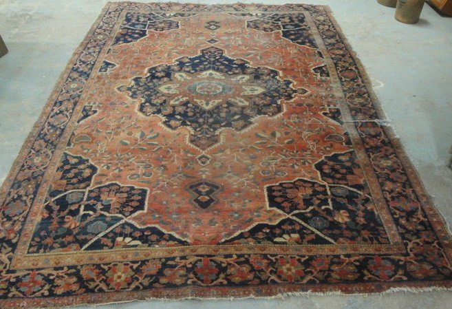 "6: Early room-size Oriental rug - 6'10"" x 10""5"""