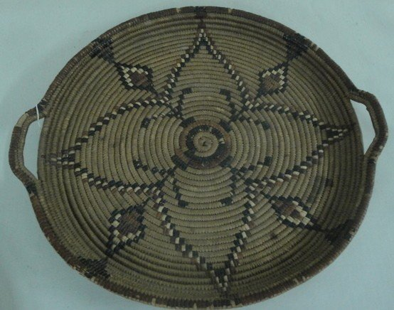 19: Two Native American woven trays - each approx. 16""