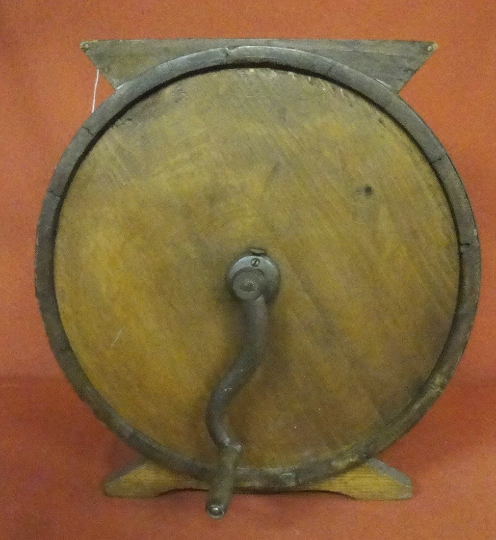7: Late 19th c. pine butter churn