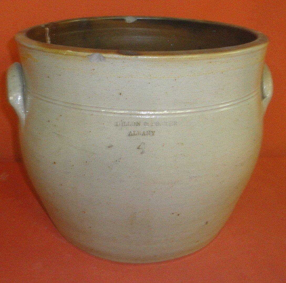 20: Stoneware  4 gallon signed Dillon & Porter, Alban