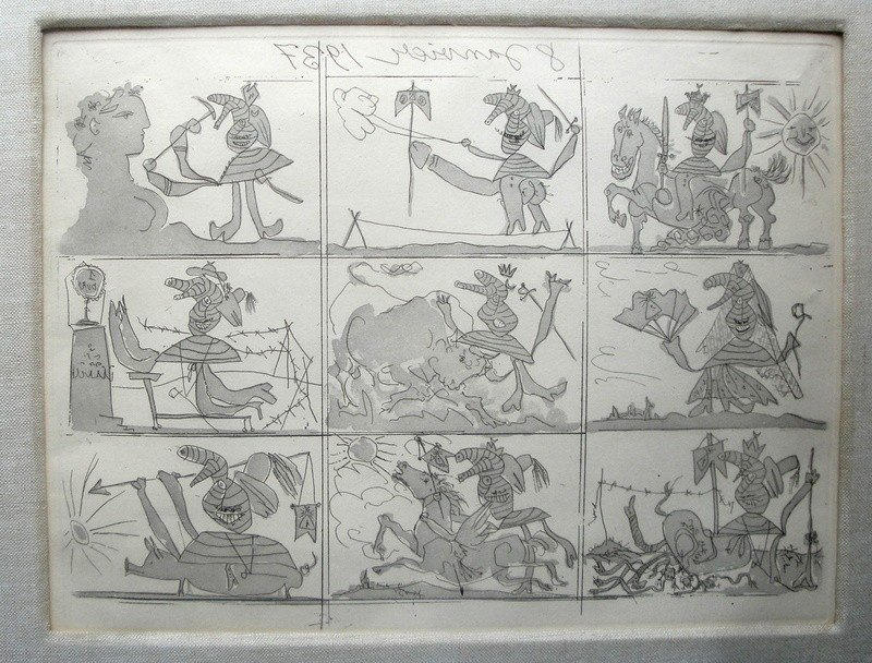 74: Picasso etching with aquatint entitled in reverse l