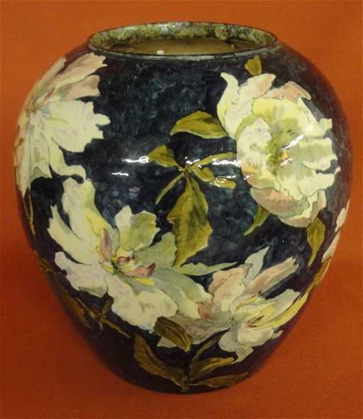 251 Signed John Bennett Art Pottery Vase Decorated Wit