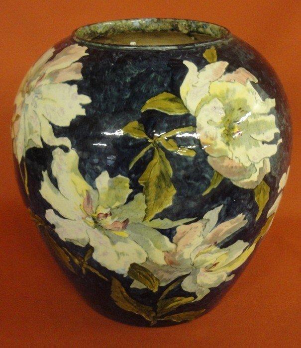 251: Signed John Bennett art pottery vase decorated wit