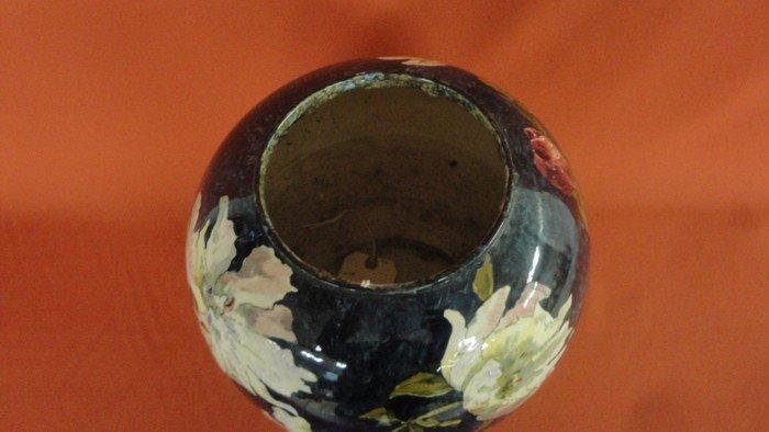 251: Signed John Bennett art pottery vase decorated wit - 2