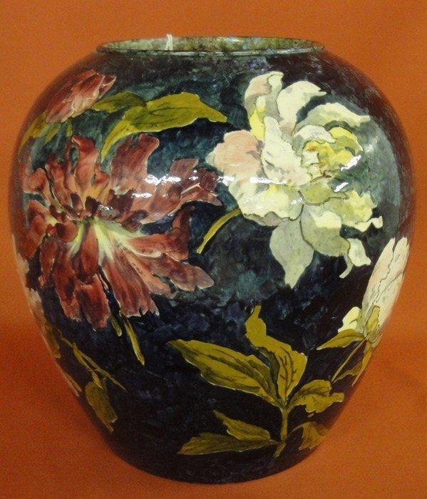 251: Signed John Bennett art pottery vase decorated wit - 3