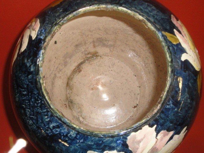 251: Signed John Bennett art pottery vase decorated wit - 5