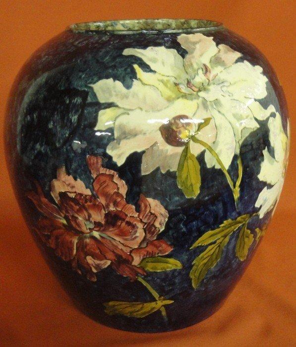 251: Signed John Bennett art pottery vase decorated wit - 6