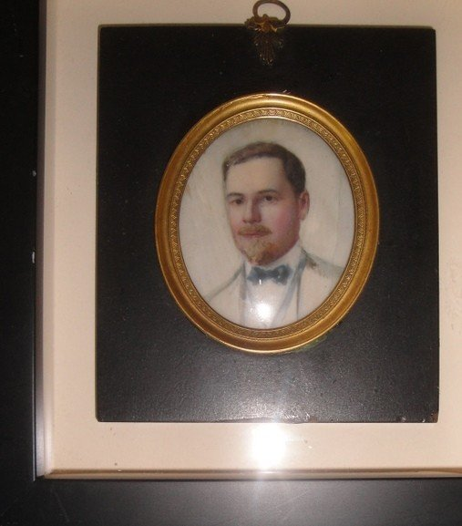 22B: Two 19th c. miniature portraits.