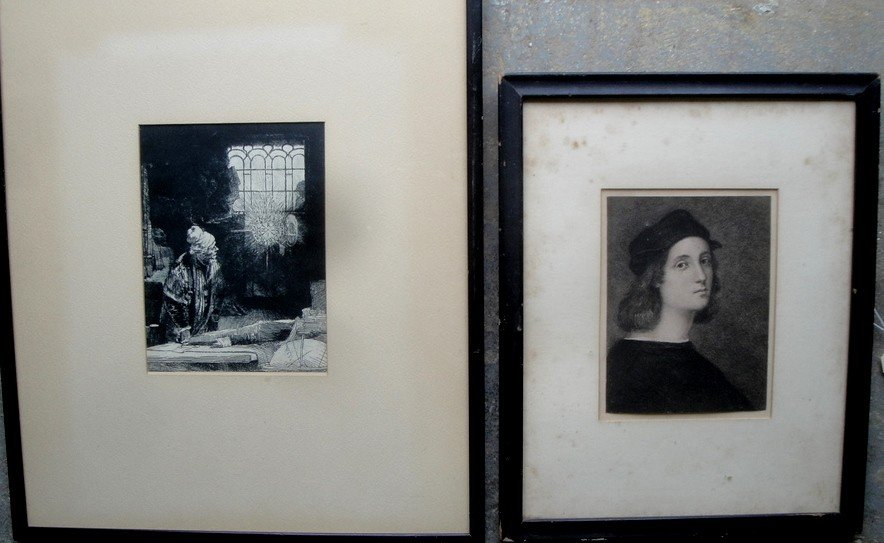 15: Two engravings including early unsigned portrait of