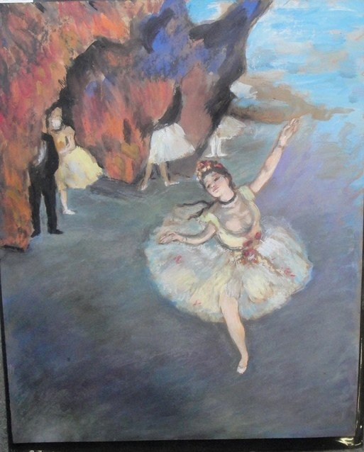 22: High quality pastel portrait of a ballerina - not s