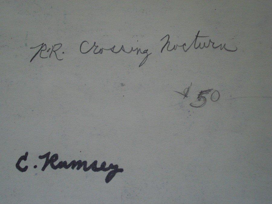 378: Signed Charles Ramsey Jr.(Westport CT. 20th centur - 3