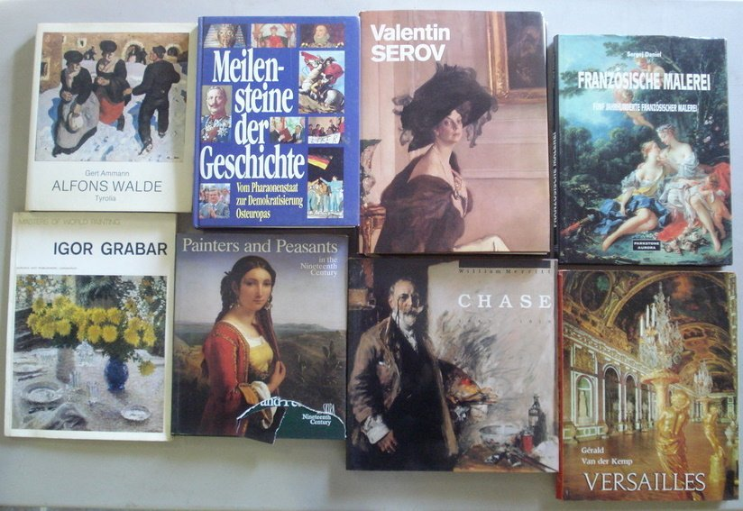 2: Box of art reference books, all 20th century.