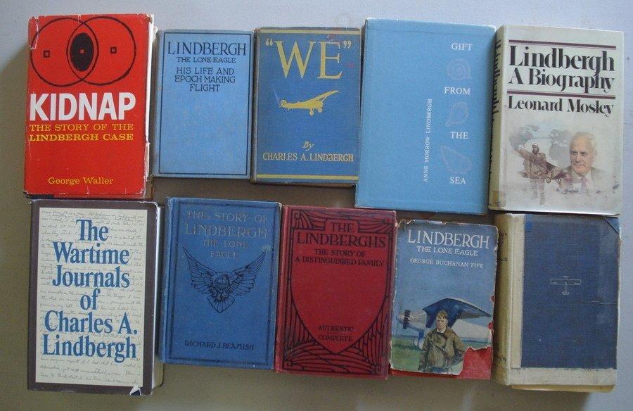 3: Lot of  Charles Lindbergh books & memorabilia.
