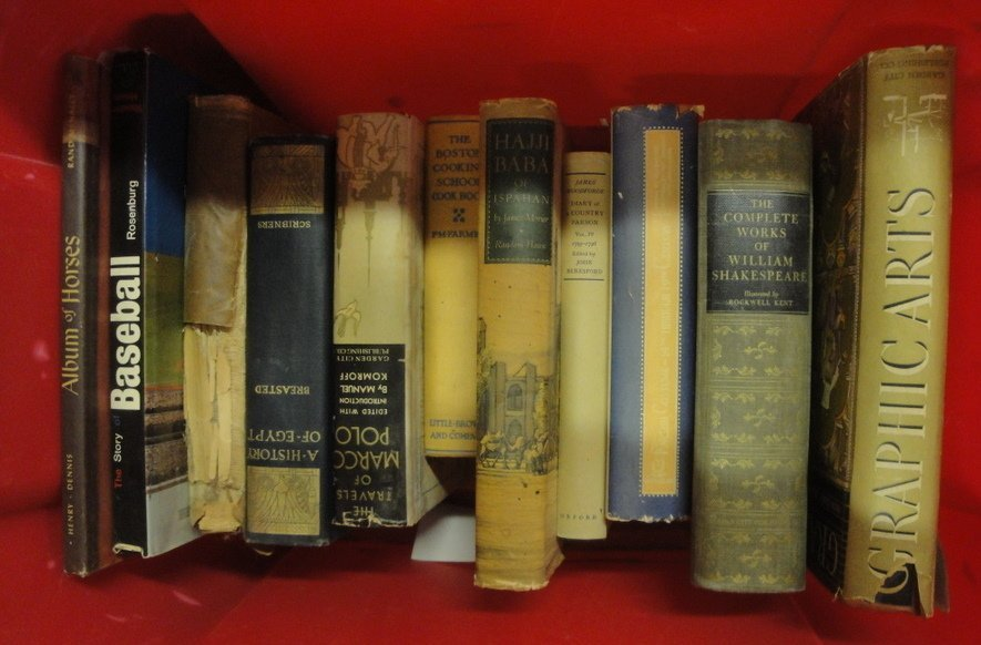 5: Lot of misc. books including Album of Horses 1957, T
