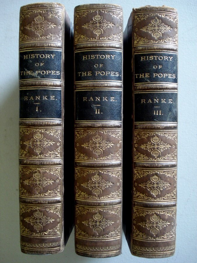 10: History of the Popes in 3 leather bound vol's, Lond
