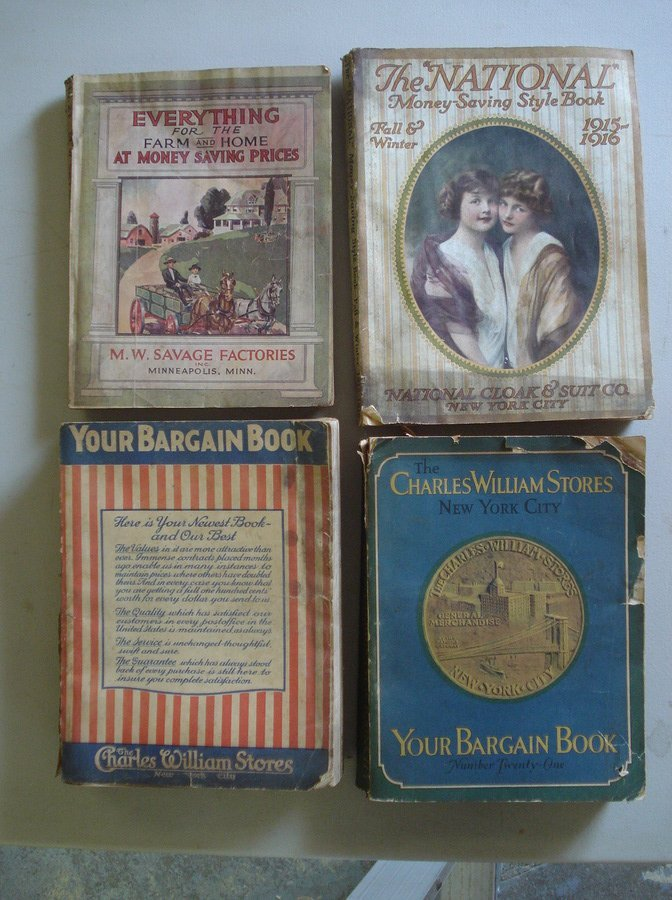 13: Grouping of 4 old merchandise catalogues including