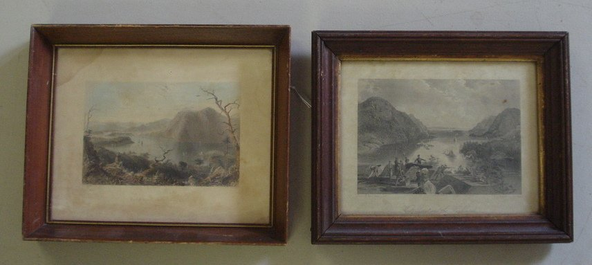 16: Two framed 19th century steel engravings, small fol
