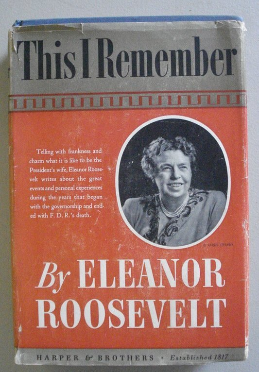 "24A: Book entitled ""This I Remember"" published in 1949"
